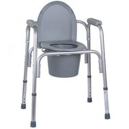 Фото Алюминиевый стул-туалет 3 в 1 OSD(OSD-BL730200) по цене 1860 грн. Торговая марка OSD (Италия). Туалетные стулья.