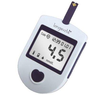 Фото Глюкометр Longevita(GL-LG) по цене 419 грн. Торговая марка LONGEVITA (Великобритания). Глюкометры.