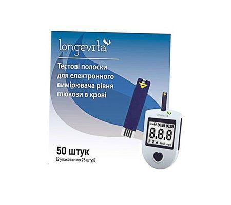 Фото Глюкометр Longevita +50тест-полосок(Longevita-50тест-полосо) по цене 728 грн. Торговая марка LONGEVITA (Великобритания). Глюкометры.